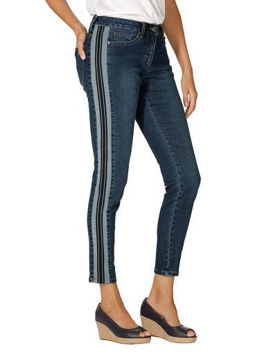 Amy Vermont Jeans mit seitlich aufgesetztem Zierstreifen