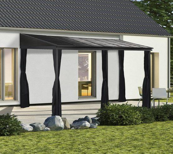 Sojag Anbaupavillon »Portland 10x16 anthrazit«, BxTxH: 483x298x240 cm