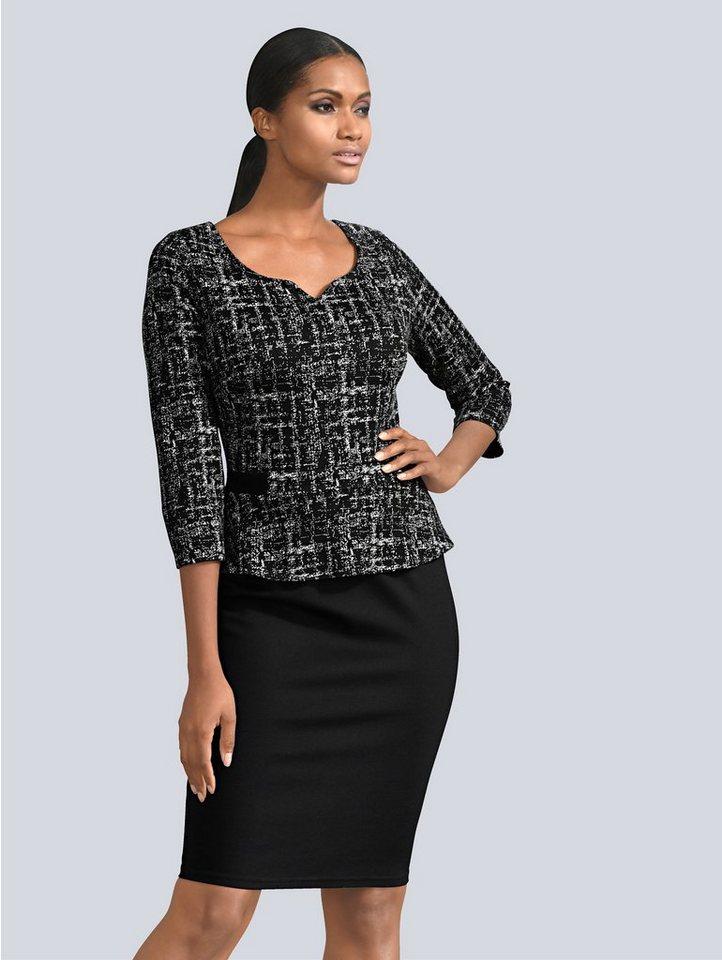 Festtagsmode - Alba Moda Kleid mit kleinem Schößchen › schwarz  - Onlineshop OTTO