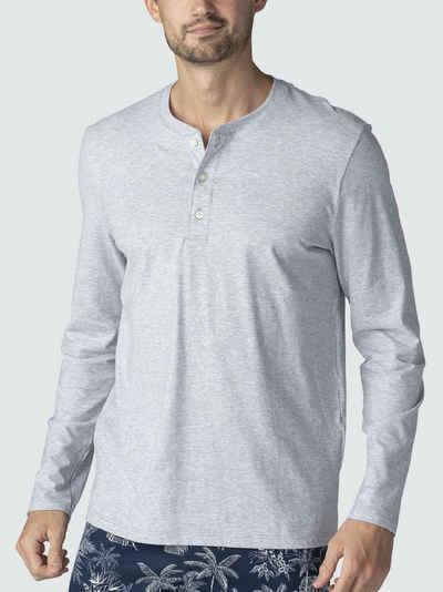 Mey Pyjamaoberteil »Langarm-Shirt mit Knopfleiste« (1-tlg) Made in Europe