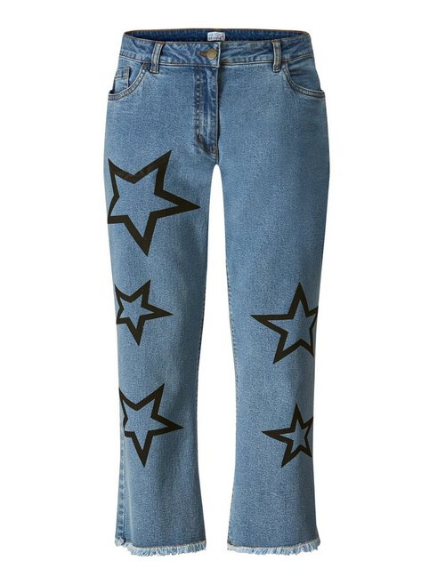 Hosen - Angel of Style by HAPPYsize 7 8 Jeans mit Sternen ›  - Onlineshop OTTO