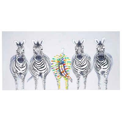 MCW Ölgemälde »Wandbild Zebras II«, Zebras, Handgemalt, Hohe Qualität, Jedes Bild ein Unikat, Ölfarben