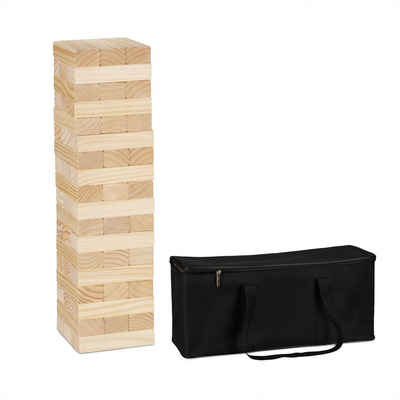 relaxdays Stapelspielzeug »XL Wackelturm Holz«