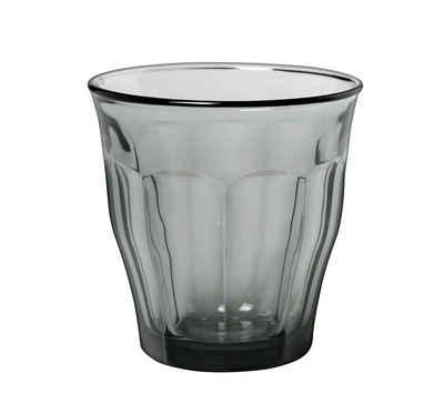 Duralex Tumbler-Glas »Picardie Panaché«, Glas, Trinkglas Wasserglas Saftglas 250ml Glas grau 4 Stück