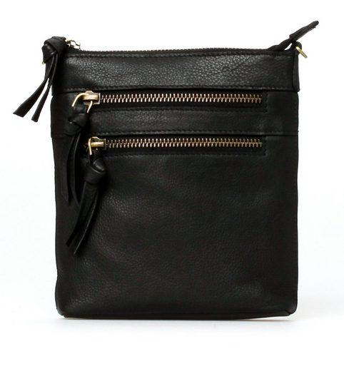 TREATS Mini Bag »Rosa Common«, aus Leder mit schicker Bänderapplikation und kleinem Format