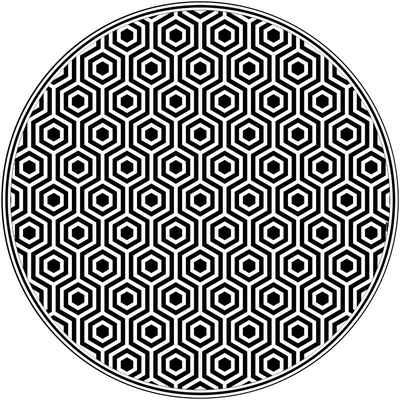 Vinylteppich »buddy QM«, MySpotti, rund, Höhe 0,03 mm, wasserfest und statisch haftend