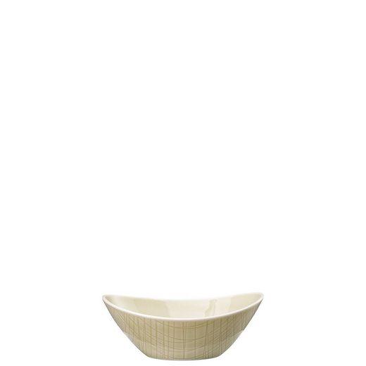 Rosenthal Snackschale »Mesh Colours Cream Schale oval 15 x 11 cm«, Porzellan, (1-tlg)
