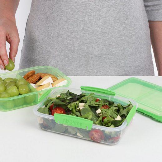 sistema Aufbewahrungsbox »Lunchbox Stack 1.8l, transparent-grün«, Kunststoff (lebensmittelsicher)