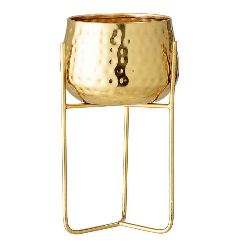Bloomingville Blumentopf »Bloomingville Blumentopf RUSSELL mit Ständer Gold 12 cm«