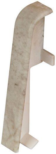 EGGER Zwischenstücke »Stein weiss«, Verbindungselement für 6cm EGGER Sockelleiste, 2 Stk.