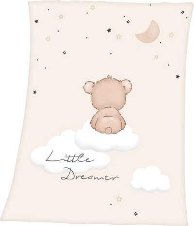 Babydecke »Little Dreamer«, Baby Best, mit niedlichem Teddydesign