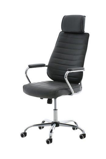 CLP Schreibtischstuhl »Rako«, mit Wippmechanismus und Leichtlaufrollen