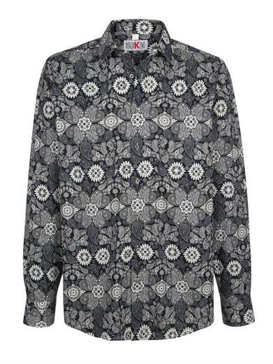 Roger Kent Hemd mit Paisley-Blumen-Druck