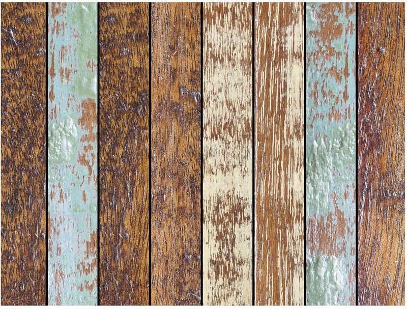 Platzset, »Matteo«, Contento, (Set, 4-St), für den Innen- und Außenbereich, wasserabweisend, natürliches Holzdesign