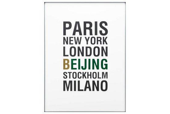 KUNSTLOFT Acrylglasbild »Metropolen der Welt«, handgefertigtes 3D Wandbild