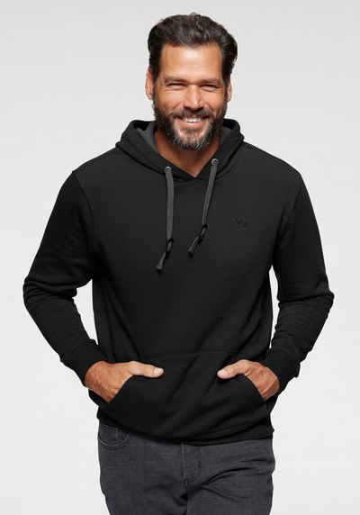 Man's World Kapuzensweatshirt mit Kontrast- Details