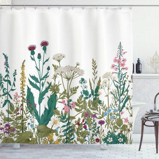 Abakuhaus Duschvorhang »Moderner Digitaldruck mit 12 Haken auf Stoff Wasser Resistent« Breite 175 cm, Höhe 180 cm, Frühling Wildflower Arrangement