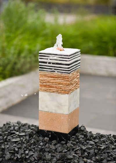 Ubbink Gartenbrunnen »TAMPA II«, 16 cm Breite, Wasserbecken BxT: 46x40 cm, (Komplett-Set), inkl. LED-Beleuchtung