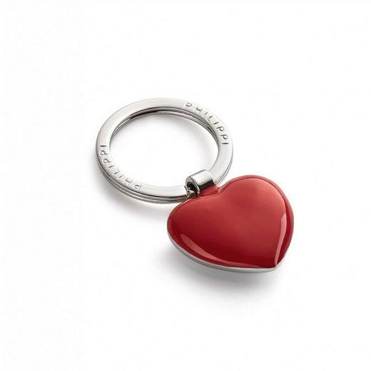 PHILIPPI Schlüsselanhänger »Schlüsselanhänger Herz rot-silber«
