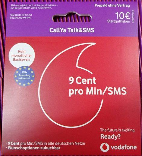 Vodafone CallYa-Prepaid-Karte »Talk&SMS mit 10 Euro Startguthaben«