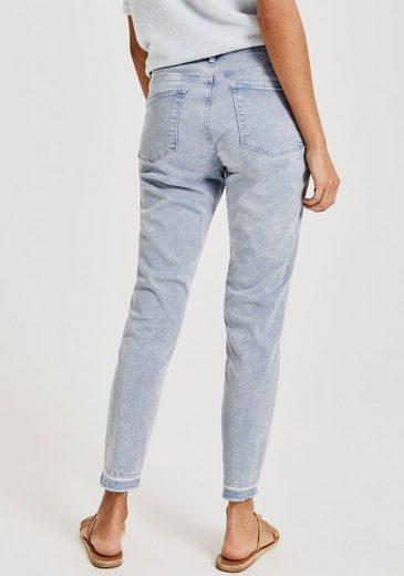 OPUS 7/8-Jeans »Elma« mit dezent ausgefranster Saumkante