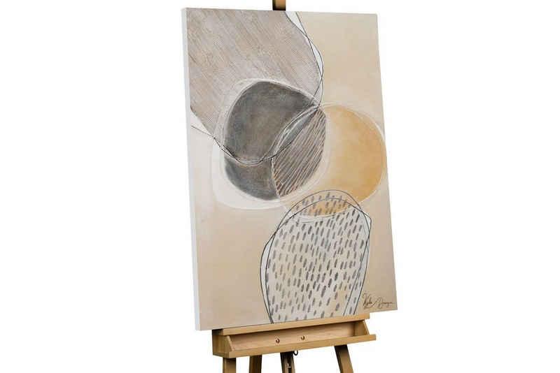 KUNSTLOFT Gemälde »Leuchten der Kreise«, handgemaltes Bild auf Leinwand