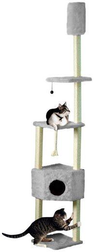 CAT DREAM Kratzbaum-Deckenspanner , B/T/H: 38/38/230-260 cm, grau