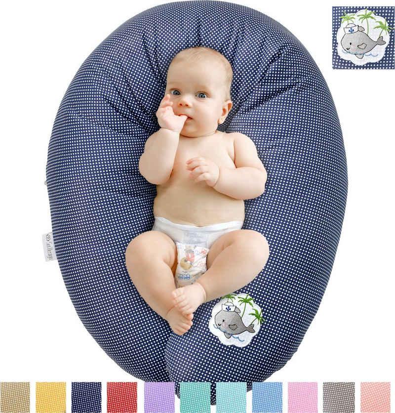 SEI Design Stillkissen »Babywal«, mit hochwertiger Stickerei