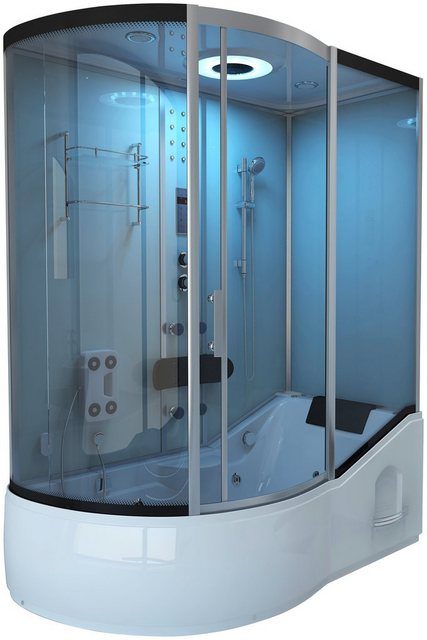 Duschen und Zubehör - HOME DELUXE Komplettdusche »ALL IN 4 in 1«, BxT 170x90 cm, Sicherheitsglas, 1 tlg., Dusche Wanne Whirlpool Sauna  - Onlineshop OTTO