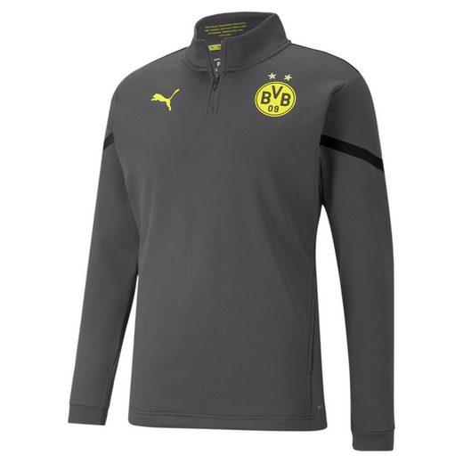 PUMA Sweatshirt »BVB Prematch Fußballoberteil mit kurzem Reißverschluss für«