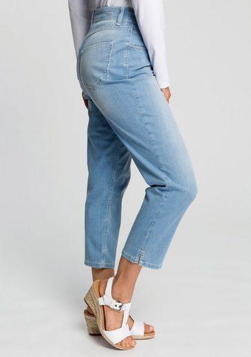 MAC 7/8-Jeans »Melanie Summer power« Mit Glitzer-Nieten am Saum und der hinteren Tasche