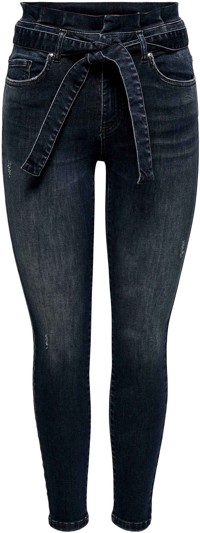 Only High-waist-Jeans »ONLHUSH LIFE MID SK ANK PAPERBAG« mit Paperbag Taille