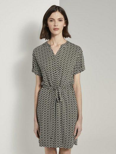 TOM TAILOR Shirtkleid »T-Shirt-Kleid mit Bindegürtel«