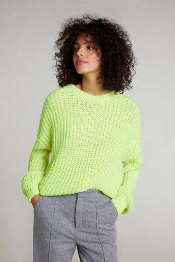 Oui Rundhalspullover »Pullover in Neonfarben«