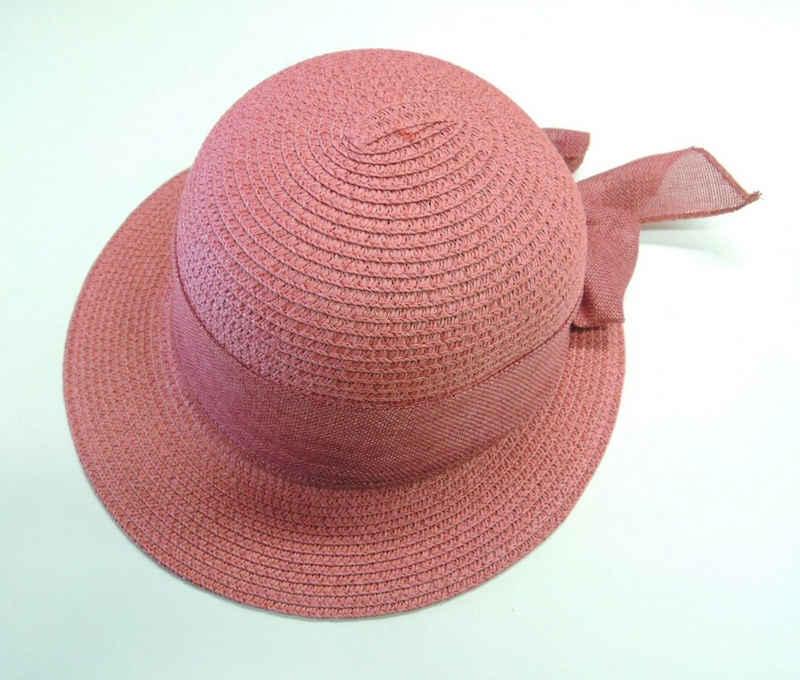 Chaplino Strohhut mit farblich passendem Hutband