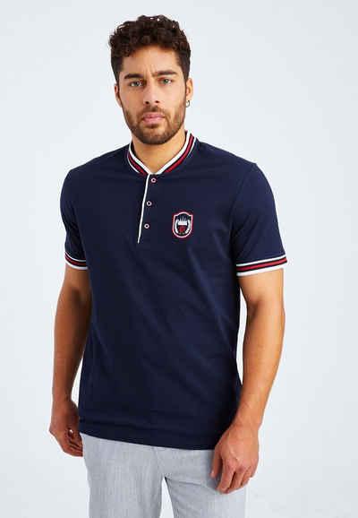 Leif Nelson T-Shirt »Herren T-Shirt Stehkragen LN-55620«