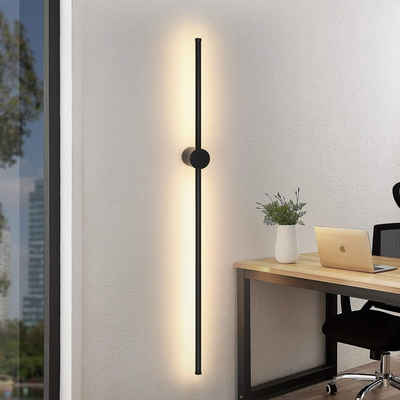 ZMH LED Wandleuchte »Wandlampe Wohnzimmer Schwenkbar Minimalistische Nachtlampe Warmweiß 3000K Bettlampe 8W für Schlafzimmer Wohnzimmer Flur Arbeitszimmer Treppenhaus«