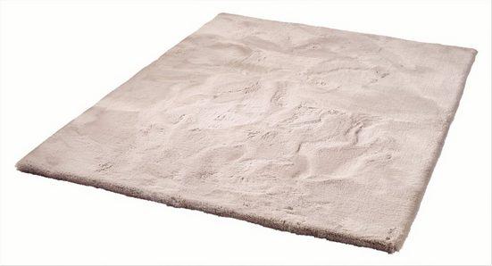 Hochflor-Teppich »Roger Deluxe«, Dekowe, rechteckig, Höhe 33 mm, Kunstfell, Kaninchenfell-Haptik, besonders weich, Wohnzimmer