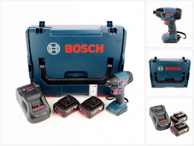 """Bosch Professional Akku-Schlagschrauber »Bosch GDR 18 V-Li Akku Drehschlagschrauber 18V 1/4"""" in L-Boxx + 2x 5,0 Ah Akku + Ladegerät«"""