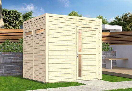 BERTILO Gartenhaus »Cubus 2«, BxT: 234x242 cm