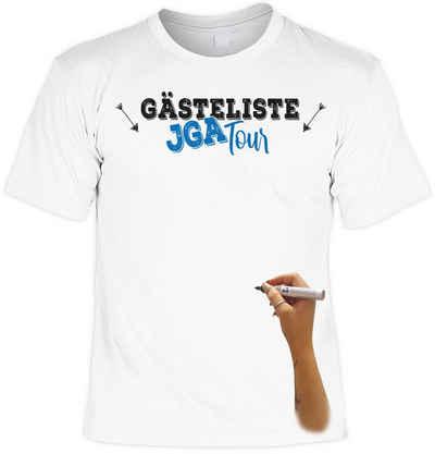 Goodman Design T-Shirt »Junggesellenabschied - JGA Tour Gästeliste mit Textilstift« mit Print