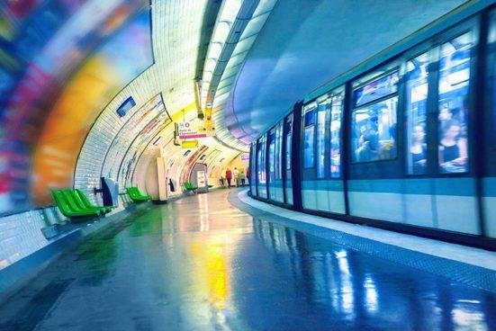 queence Acrylglasbild »Tunnel«