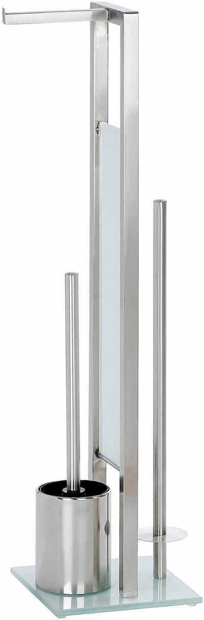 WC-Garnitur »Rivalta«, WENKO, integrierter Toilettenpapierhalter und WC-Bürstenhalter