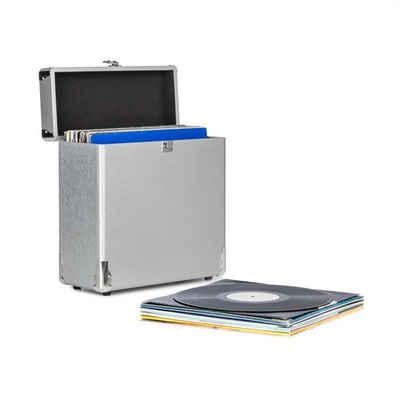 Auna »Vinylbox Alu Plattenkoffer für bis zu 30 Schallplatten Klappdeckel silber« Plattenspieler (0)