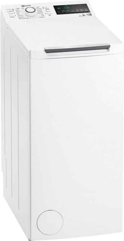 BAUKNECHT Waschmaschine Toplader WMT EcoStar 6Z BW N, 6 kg, 1200 U/min