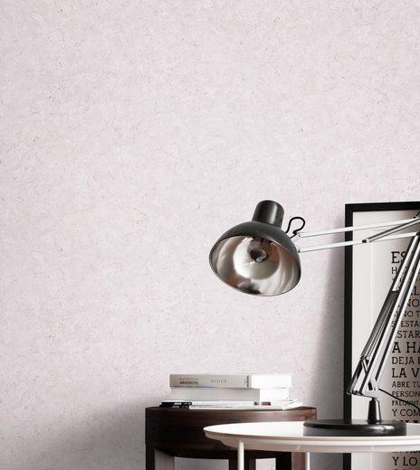 Newroom Vliestapete, Grau Tapete Uni Beton - Betonoptik Putzoptik Flieder Industrial Bauhaus Putz Zement für Wohnzimmer Schlafzimmer Küche