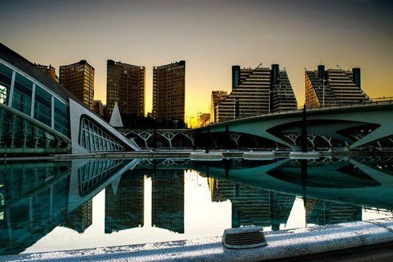 queence Acrylglasbild »Seebrücke an einer St«