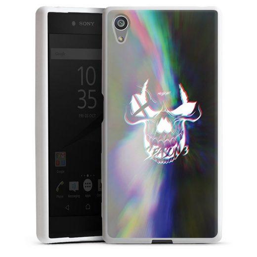 DeinDesign Handyhülle »Glitch Skull« Sony Xperia Z5, Hülle Totenkopf Moji Youtube