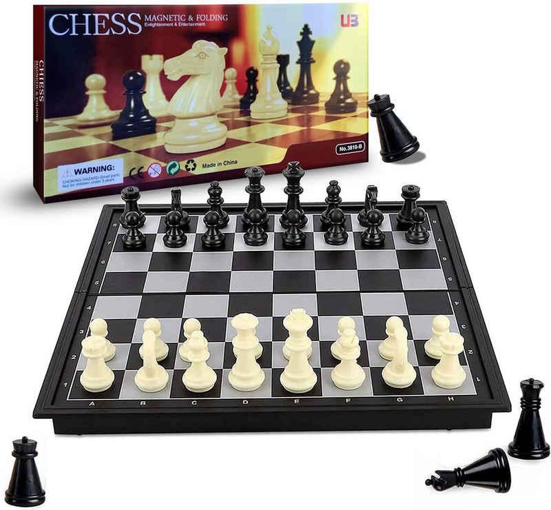 Vaxiuja Spiel, »Magnetisches Reiseschachspiel mit faltbarem Schachbrett Lernspielzeug für Kinder und Erwachsene«