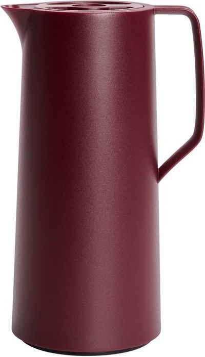 Emsa Isolierkanne »Motiva«, 1 l, ergonomischer Schraubdeckel, Quick-Press-Verschluss, mit einer Hand bedienbar, 12 Stunden warm, 24 Stunden kalt, Glaskolben